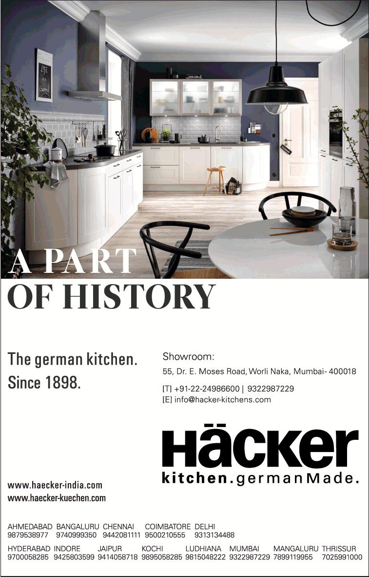 Hacker Kitchen German Made The German Kitchen Since 1898 Ad Advert