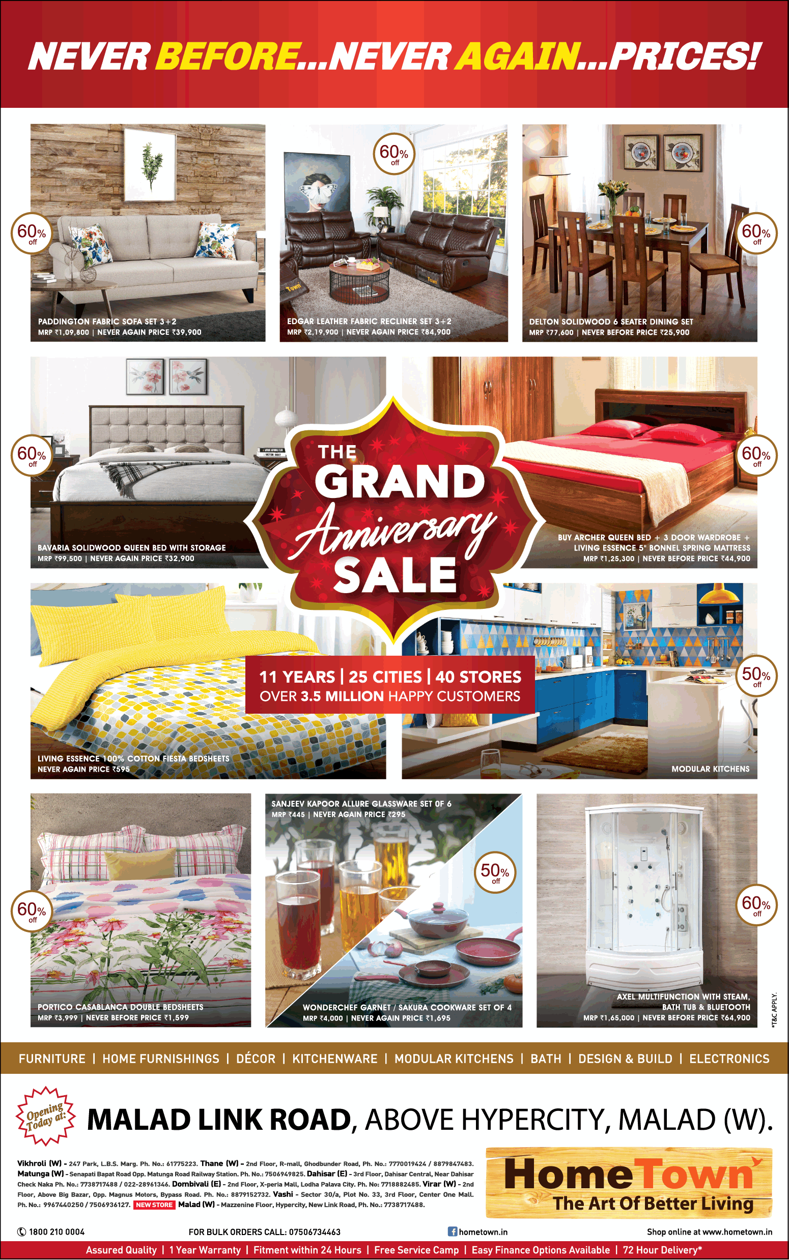 Home town furniture the grand anniversary sale ad