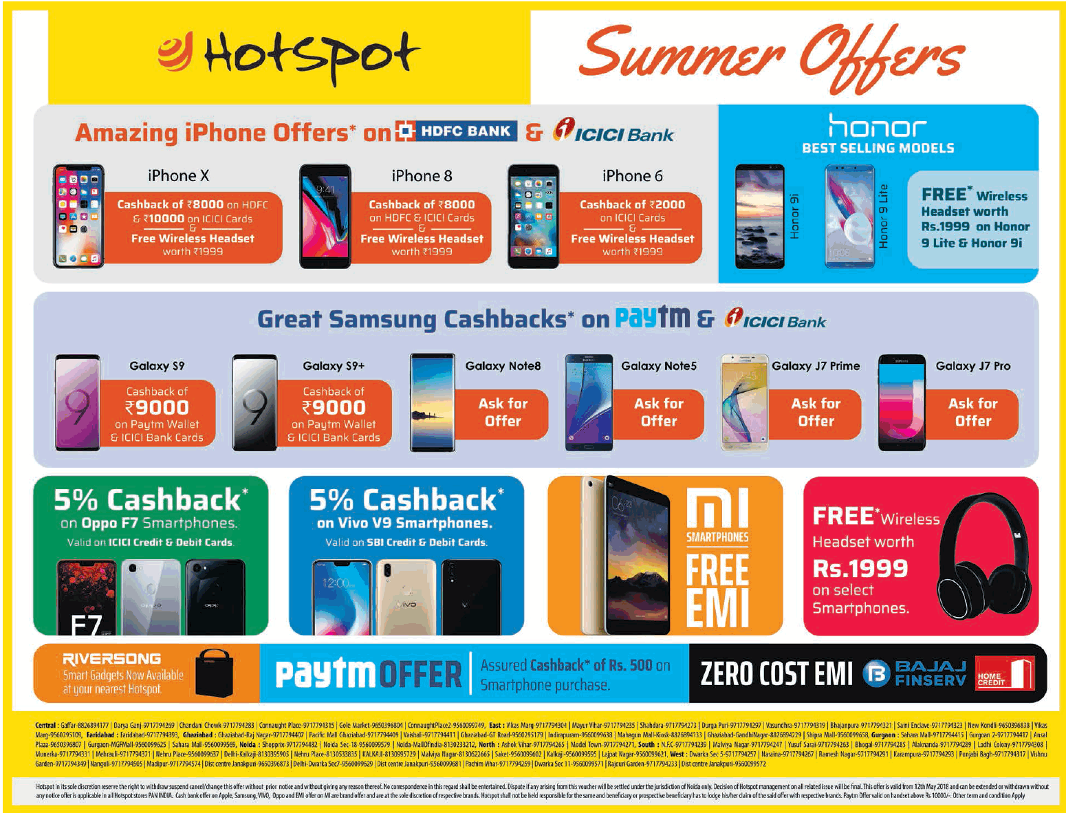 Hotspot Summer Offers Mazing Iphone Offers On Hdfc Bank And Icici Bank Ad