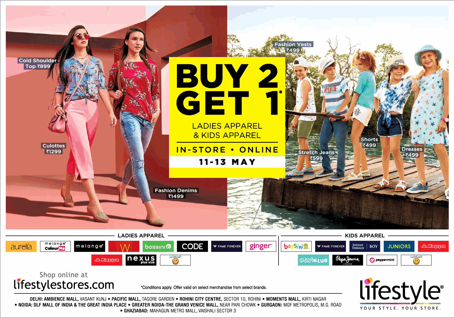 Lifestyle Buy 2 Get 1 Ladies Apparel And Kids Apparel Ad