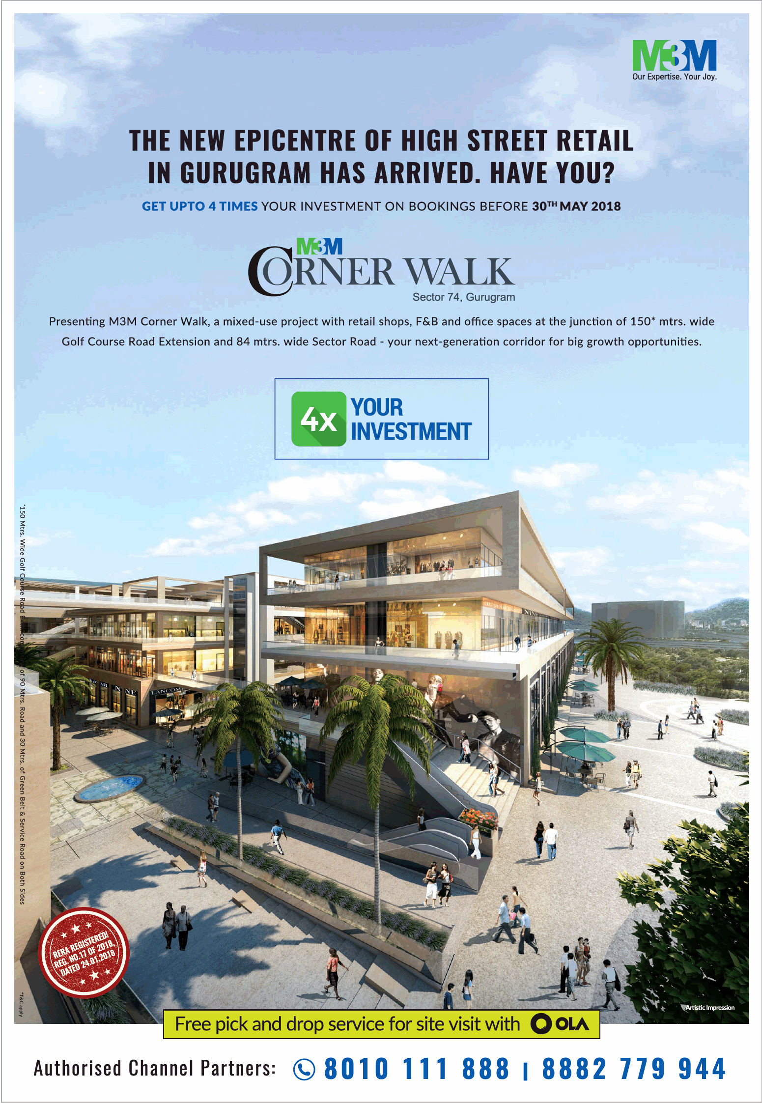 M3M The New Epicenter Of High Street Retail In Gurugram Has Arrived Have You Ad