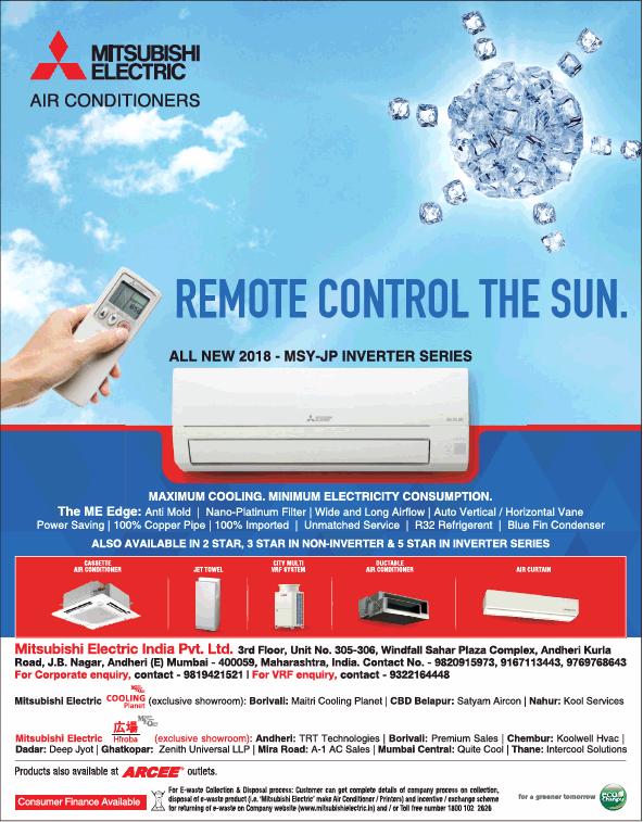 Mitsubishi Electric Air Conditioners Remote Control The Sun
