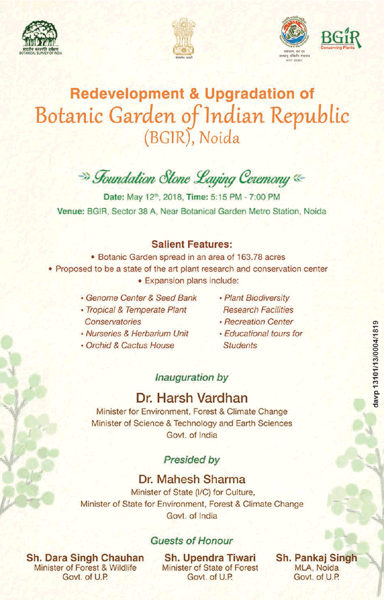Redevelopment And Upgradation Of Botanic Garden Of Indian Republic Ad