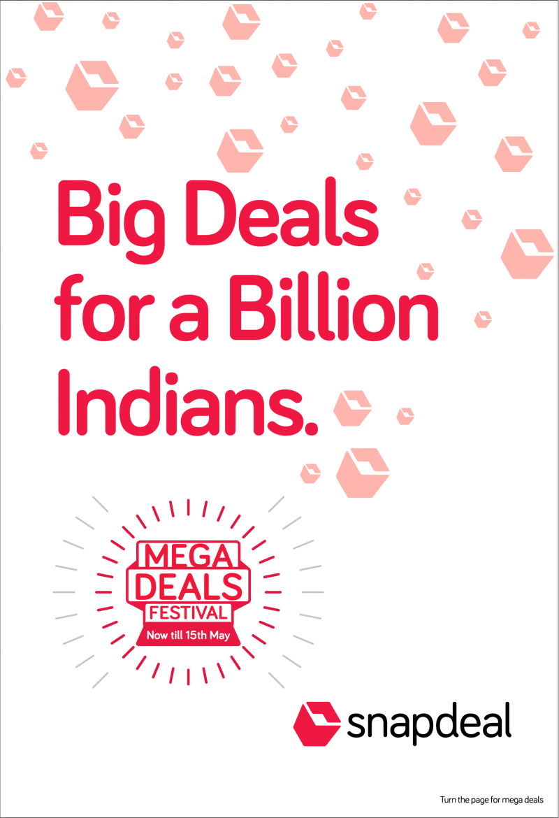 9d6a73f6a87 View Snapdeal Online Shopping Store Advertisements in Newspapers