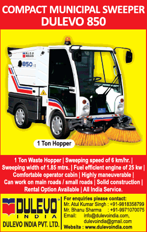 Dulevo India Pvt Ltd Compact Municipal Sweeper Dulevo 850 Ad