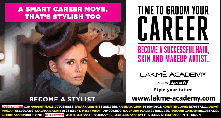 Lakme Academy Time To Groom Your Career Ad - Advert Gallery