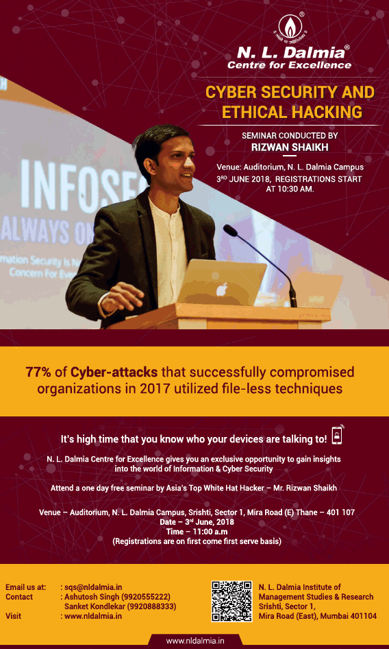 N L Dalmia Cyber Security And Ethical Hacking Ad - Advert Gallery