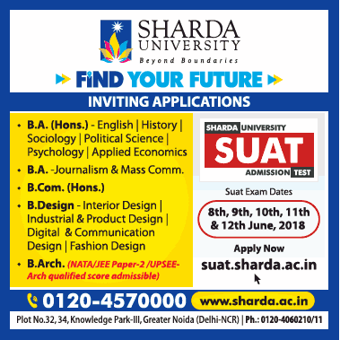 Sharda University Find Your Future Inviting Applications Ad Advert Gallery