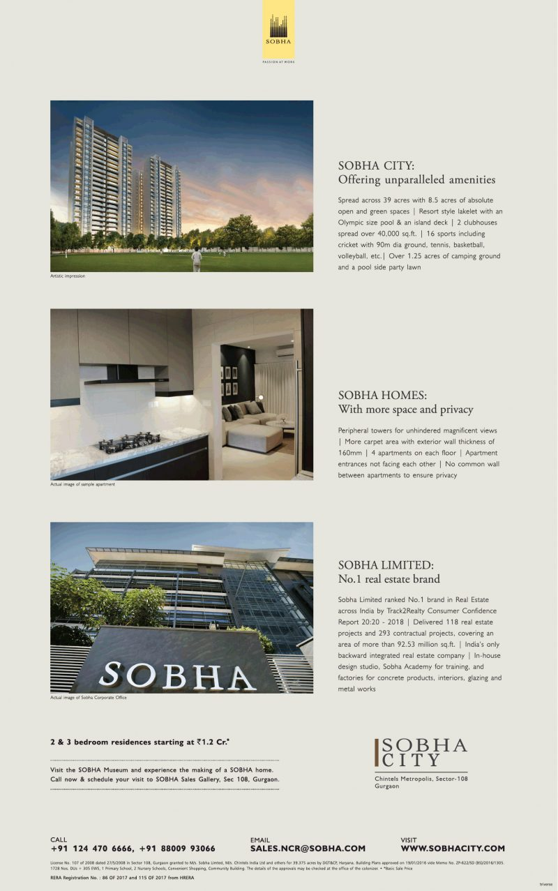 Sobha City Offering Unparalleled Amenities Ad
