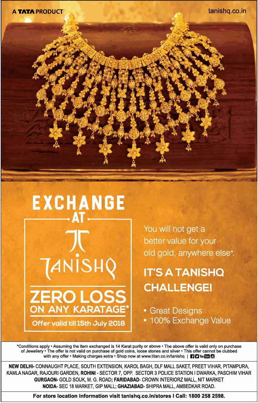 A Tata Product Tanishq Exchange At Tanishq Ad