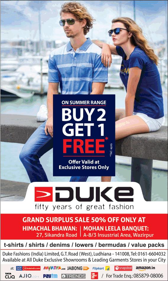 Duke On Summer Range Buy 2 Get 1 Free Ad - Advert Gallery c33ab67a3ec