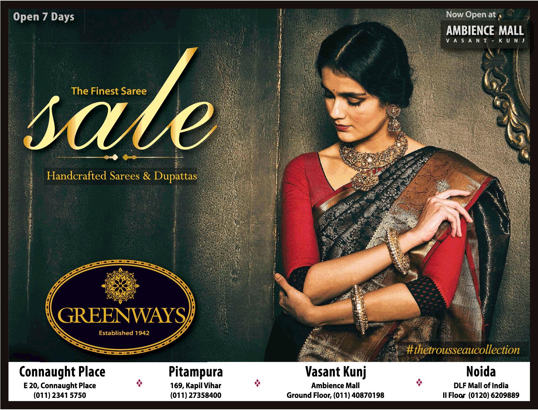 Greenways The Finest Saree Sale Ad