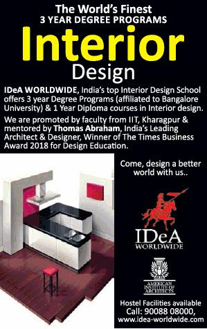 Idea Worldwide The Worlds Finest 3 Year Degree Programs Interior Design Ad Advert Gallery