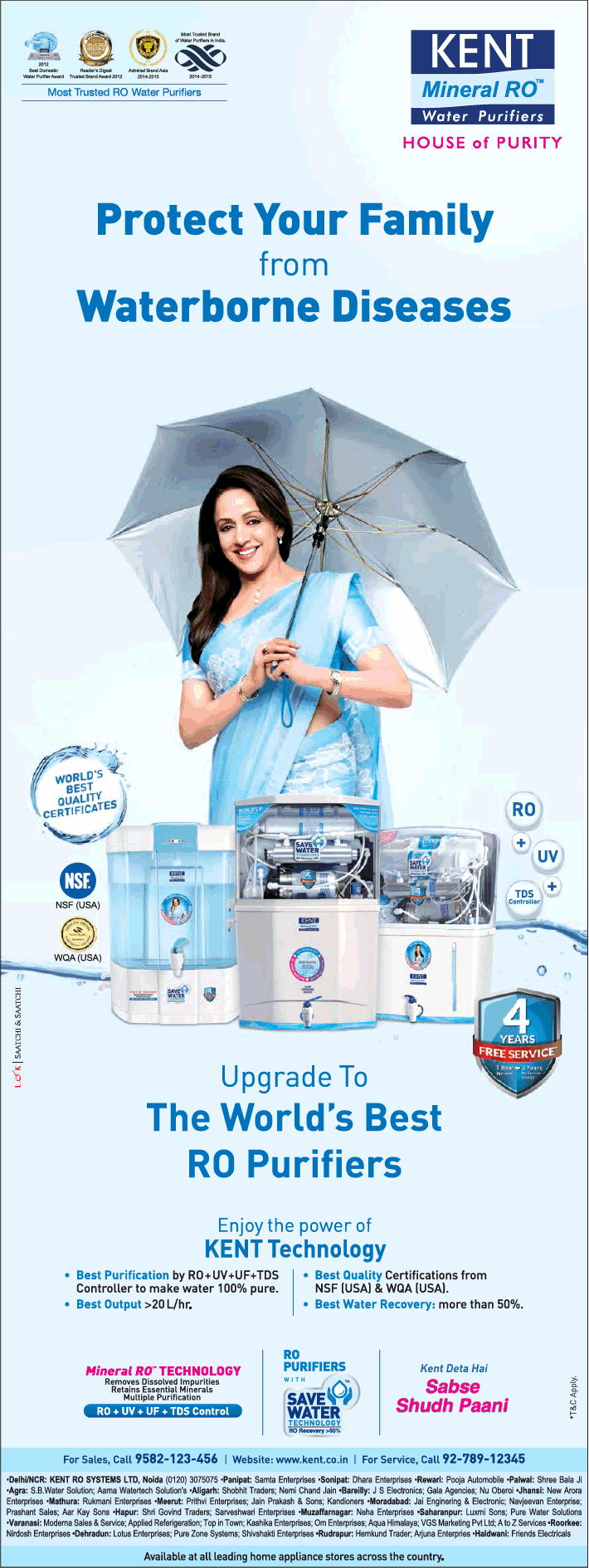 Kent Mineral Ro Upgrade To The Worlds Best Ro Purifiers Ad