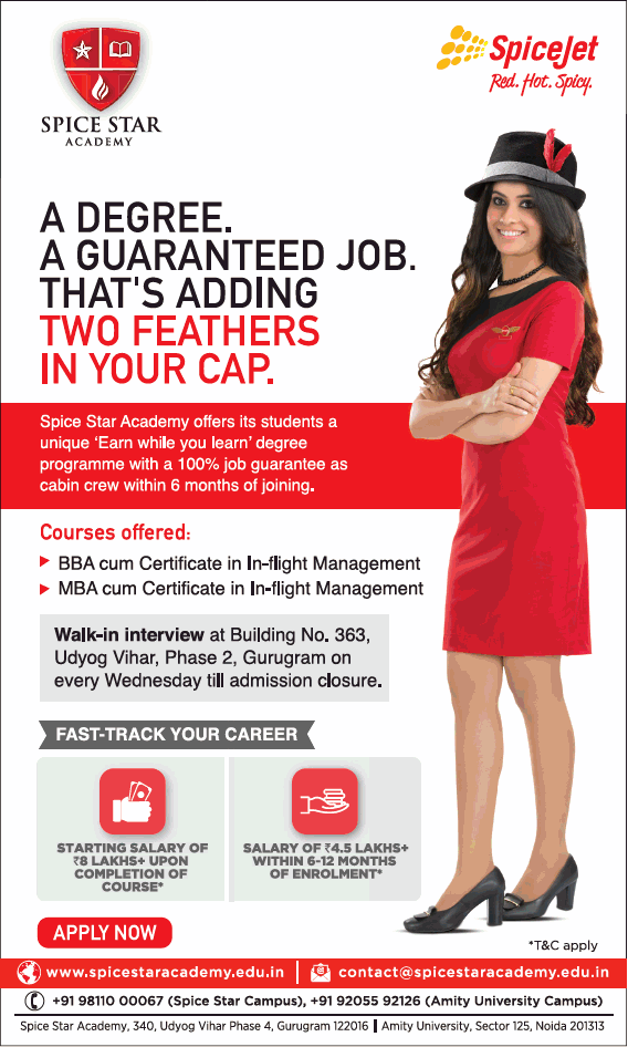 Spice Star Academy Spice Jet Red Hot Spicy Ad - Advert Gallery