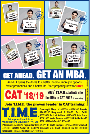 T I M E Get Ahead Get An Mba Ad
