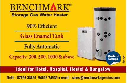 Benchmark Storage Gas Water Heater Ad - Advert Gallery
