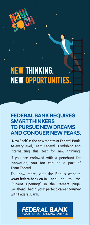 Federal Bank New Thinking New Opportunities Ad