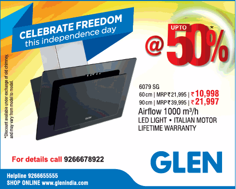 Glen Celebrate Freedom This Independence Day At Upto 50% Ad