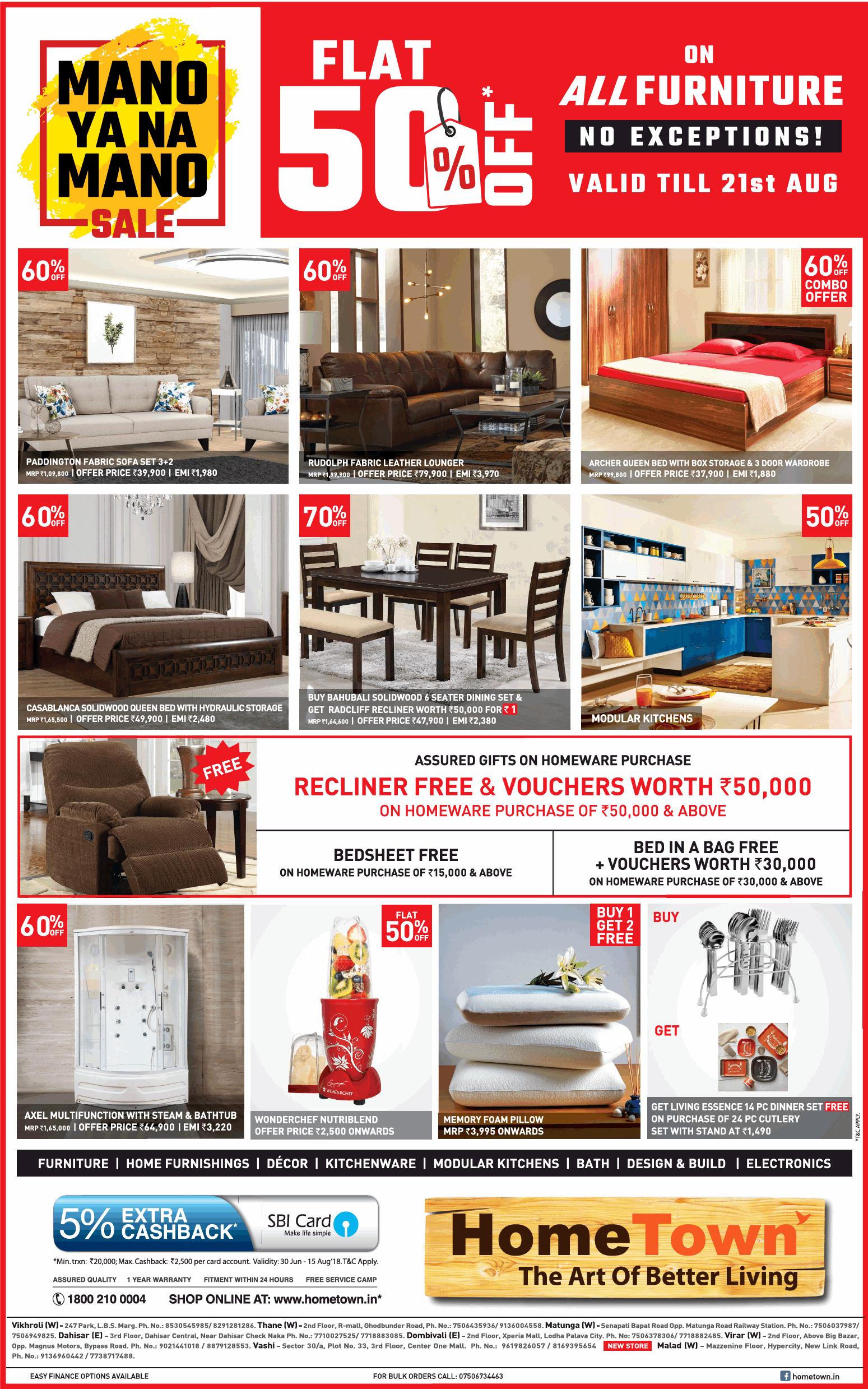 Hometown Furniture Flat 50 Off Ad Advert Gallery