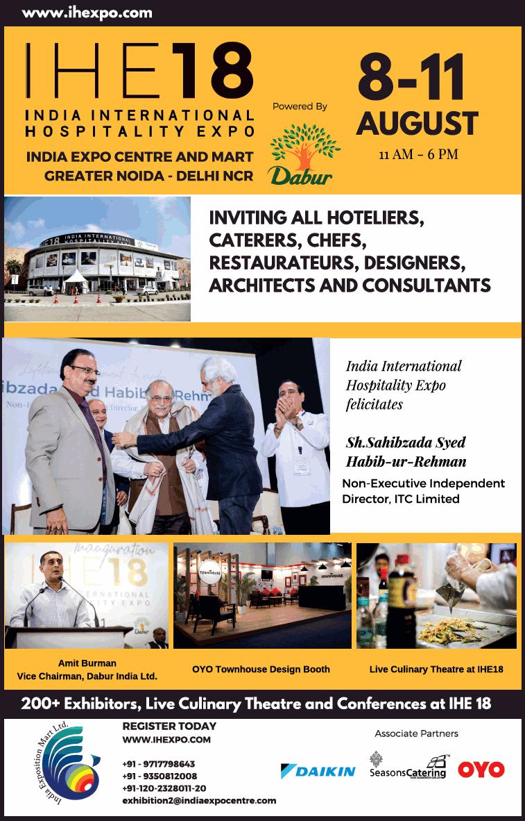 India International Hospitality Expo Ad