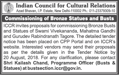 Indian Council For Cultural Relations Ad