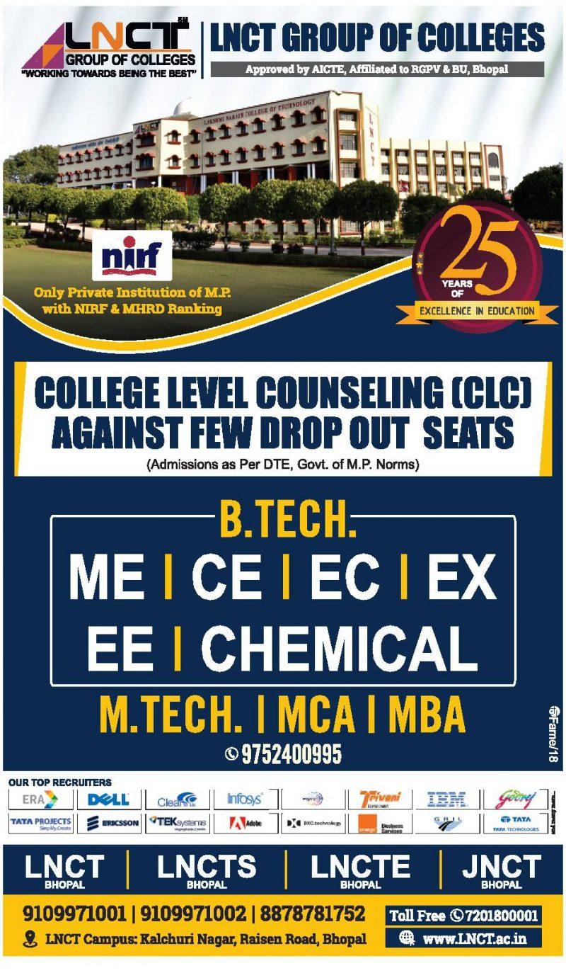 Lnct Group Of Colleges Ad