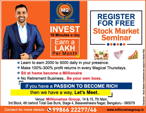 Mg Register For Free Invest 10 Minutes A Day Earn Lakh Per Month Ad