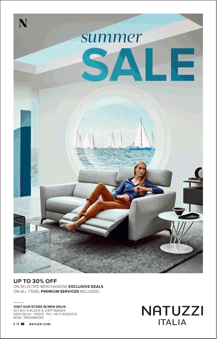 Natuzzi Italia Summer Sale Ad