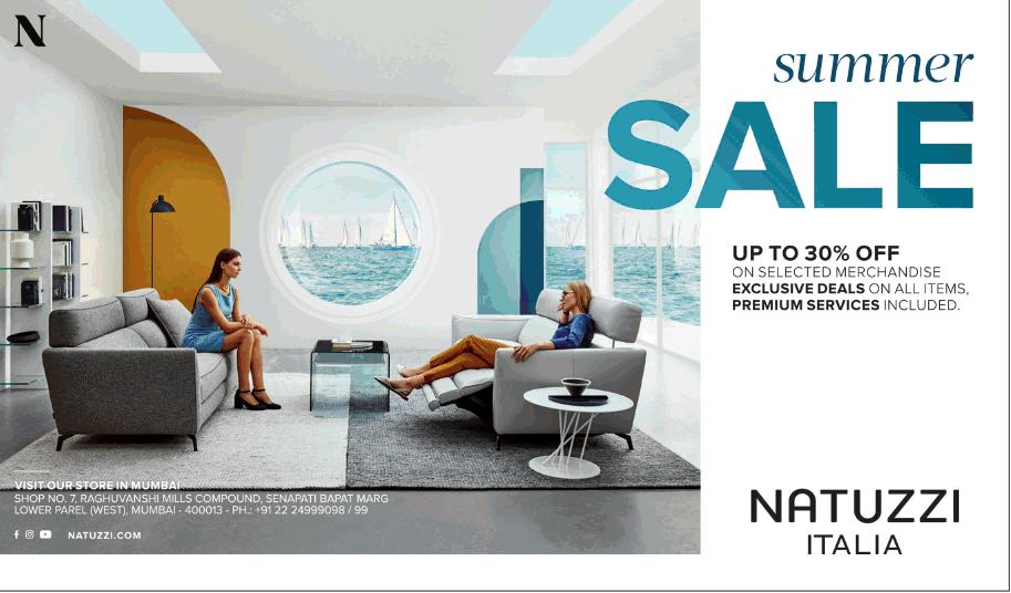 Design Bank Natuzzi.Natuzzi Italia Summer Sale Upto 30 Off Ad Advert Gallery