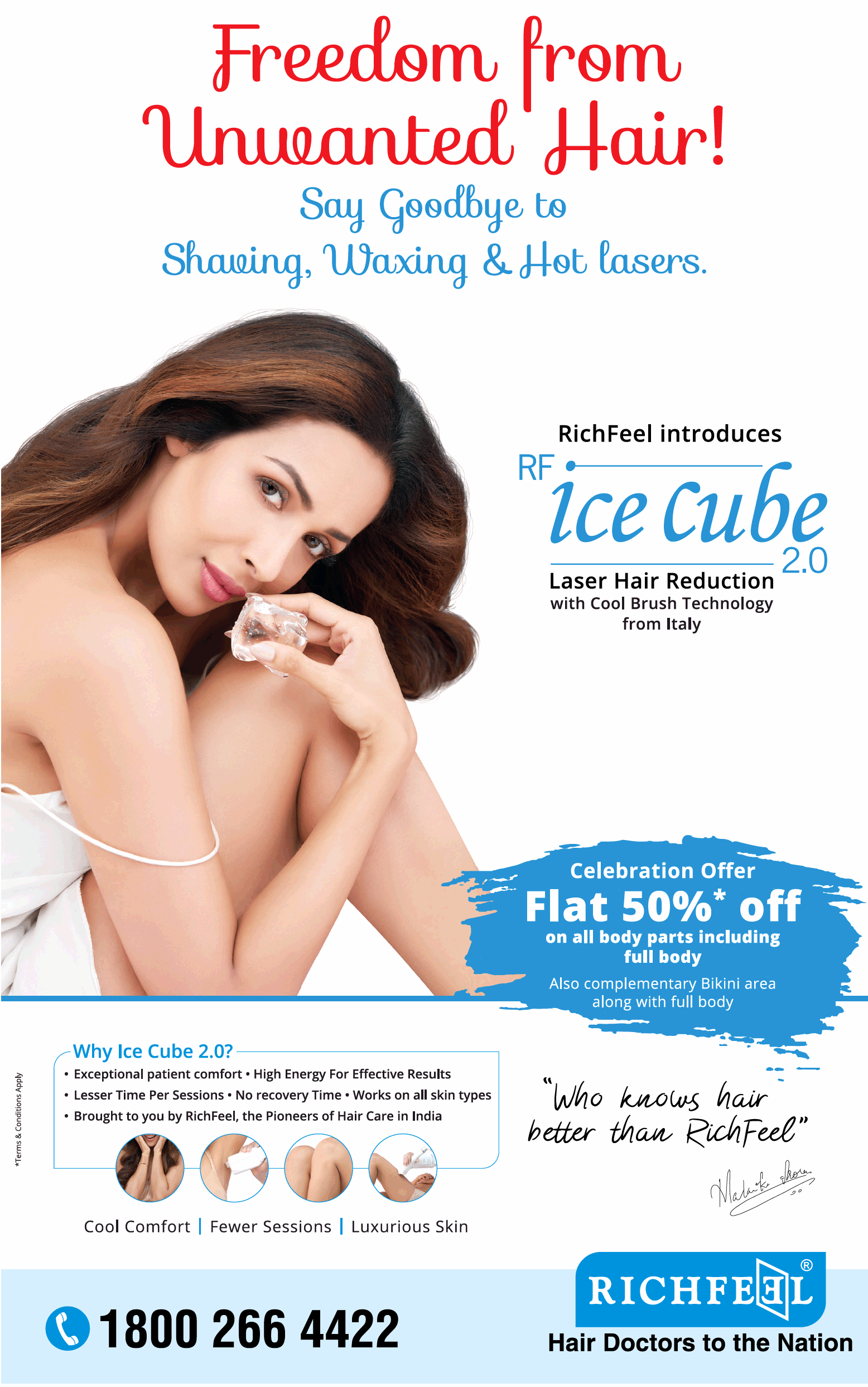 Richfeel Ice Cube Laser Hair Reduction Ad Advert Gallery