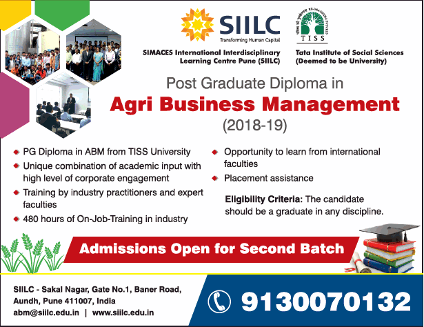 Siilc Post Graduate Diploma In Agri Business Management Ad