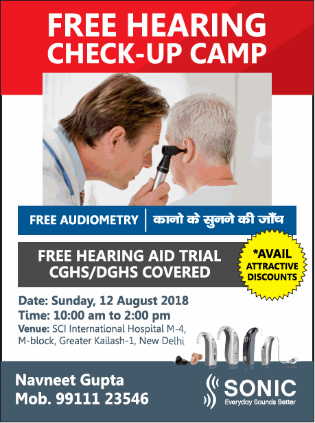 Sonic Free Hearing Check Up Camp Ad