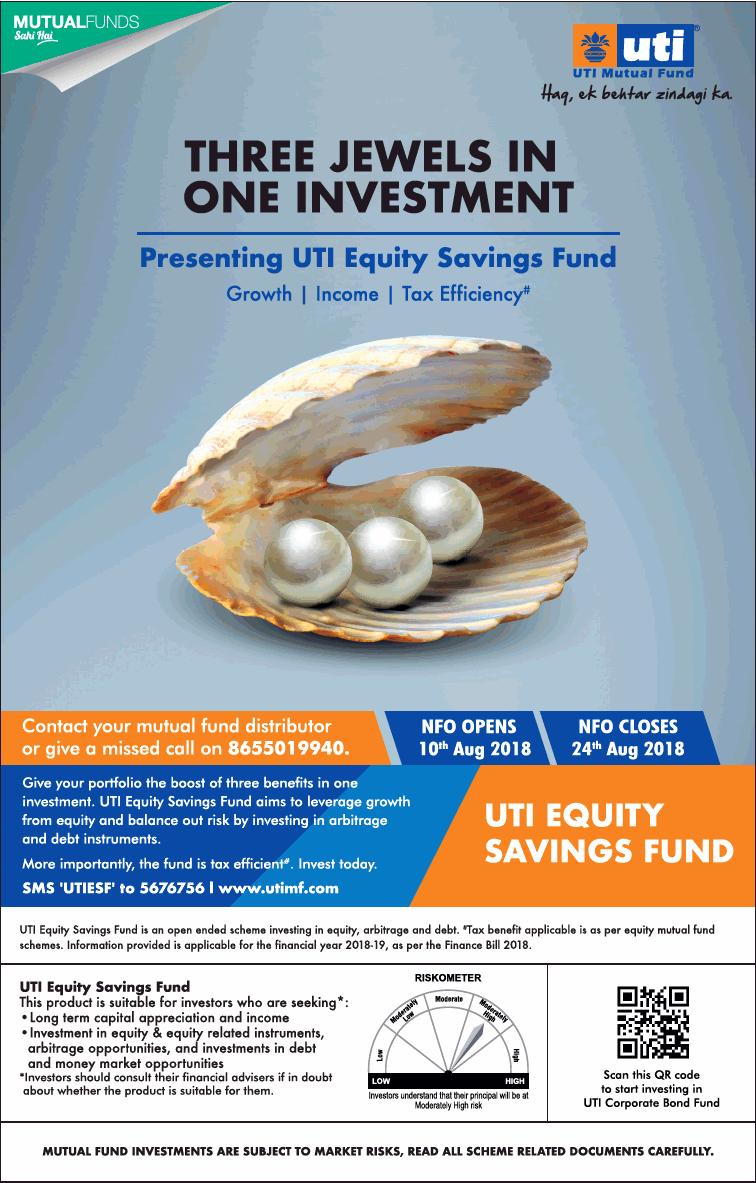 Uti Mutual Funds Three Jewels In One Investment Ad