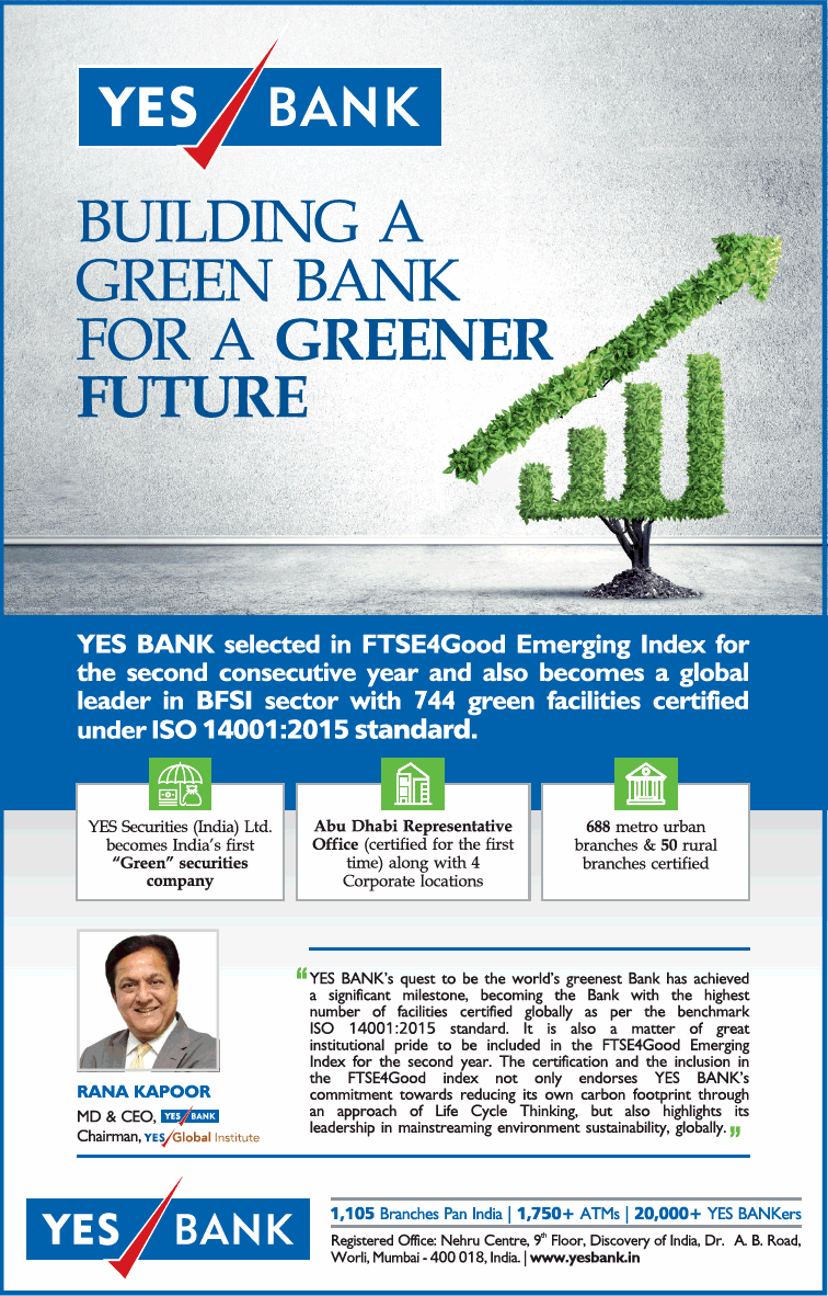 Yes Bank Building A Green Bank For A Greener Future Ad
