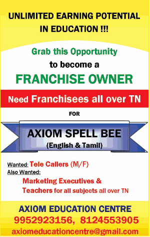 Axiom Education Centre Grab This Oppurtunity To Become A Franchise Owner Ad