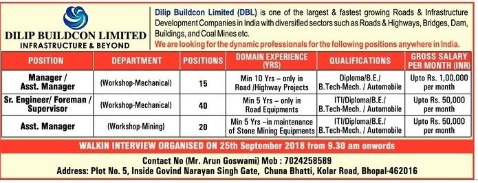Dilip Buildcon Limited Infrastructure And Beyond Requires Ad