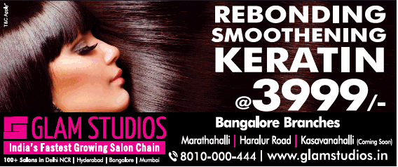 Glam Studios Rebonding Smoothening Keratin At Rs 3999 Ad