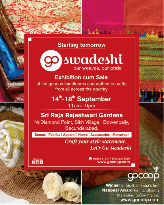 Go Swadeshi Exhibition Cum Sale Ad