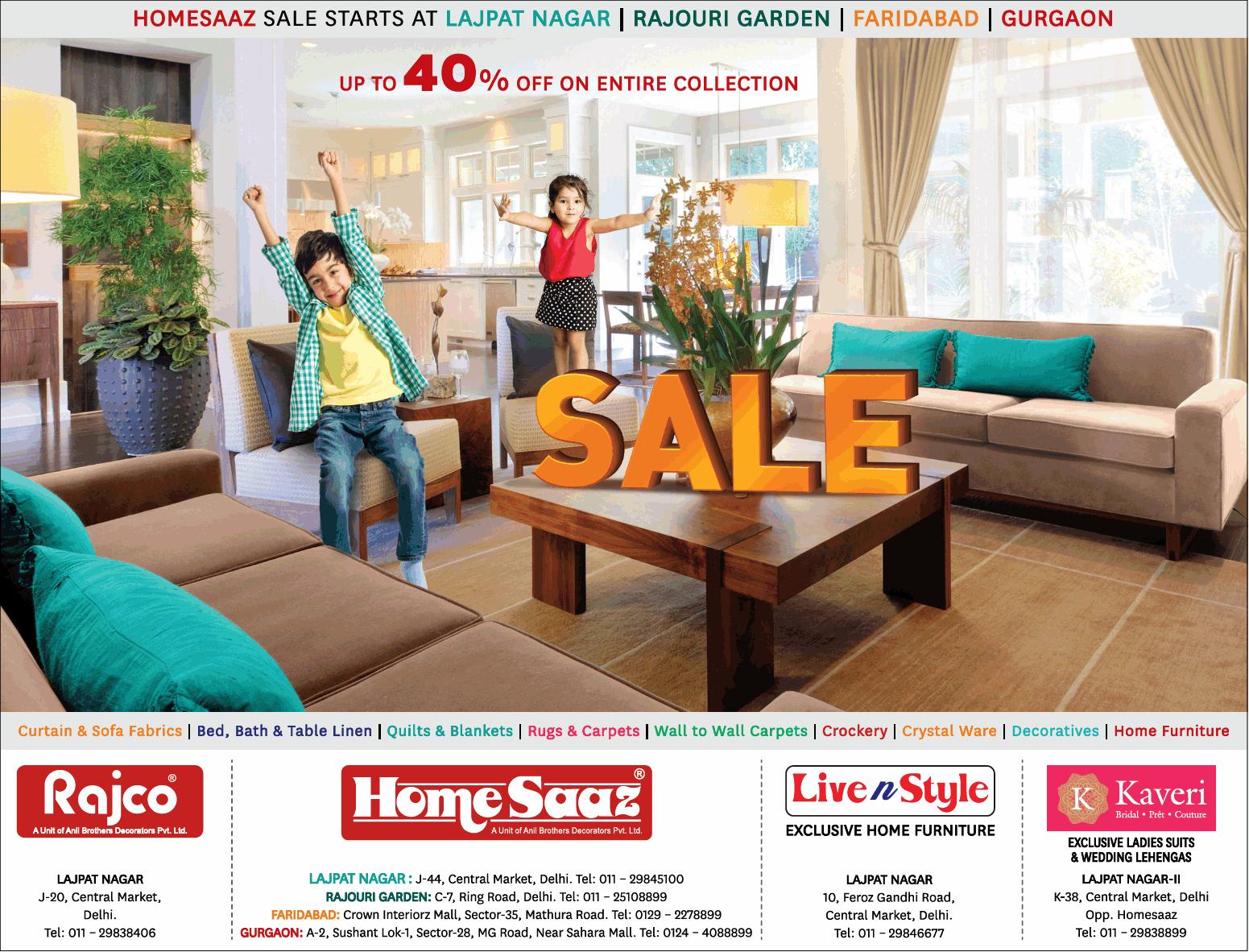 Homesaaz Sale Starts At Lajpat Nagar Ad