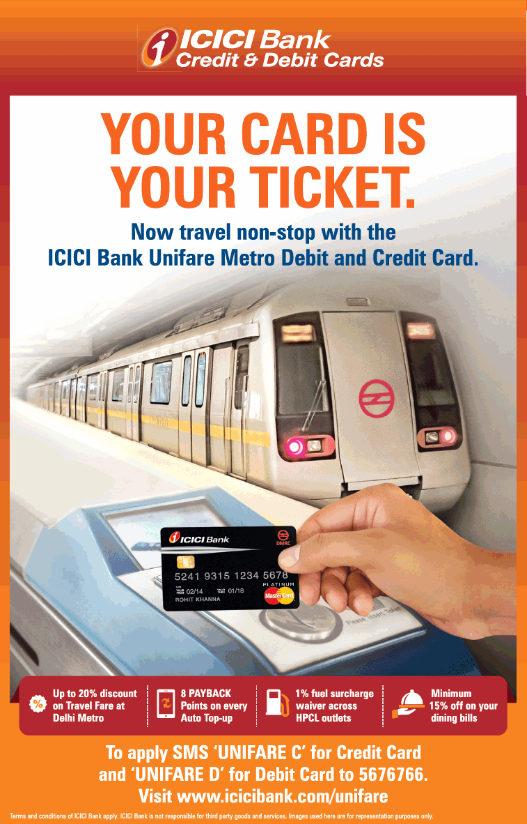 Icici Bank Credit And Debit Cards Ad