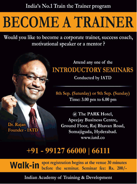 Indias No 1 Train The Trainer Program Become A Trainer Ad - Advert