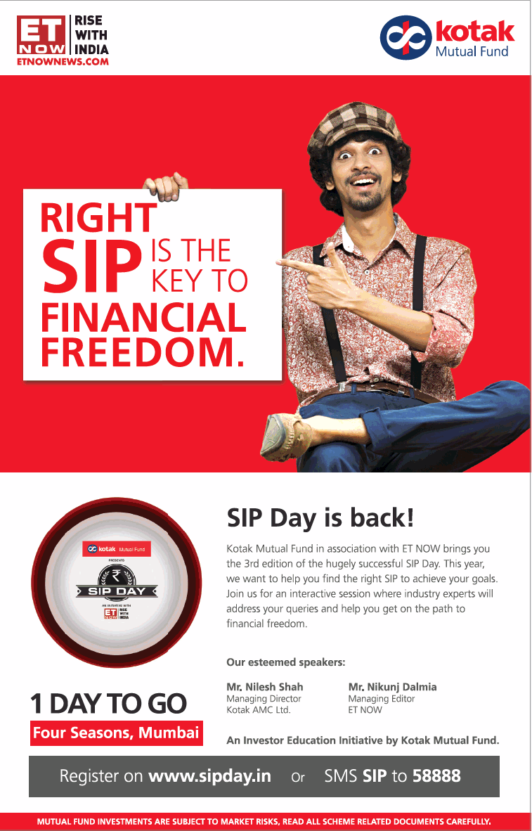 Kotak Mutual Fund Right Sip Is Key To Financial Freedom Ad