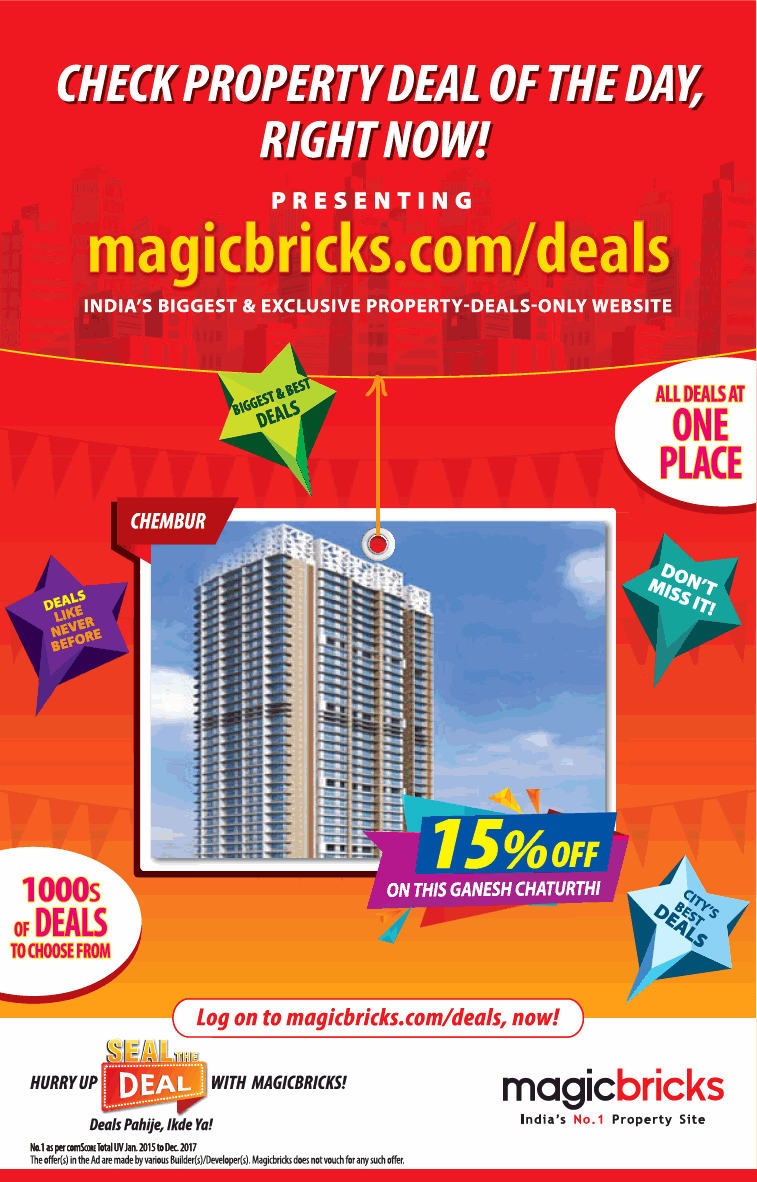 Magicbricks All Deals At One Place Ad - Advert Gallery