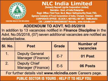 Nlc India Limited Required Deputy General Manager Ad