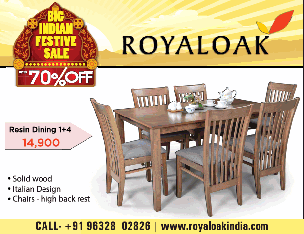 Royaloak Furniture Indian Festive Sale 70% Off Ad