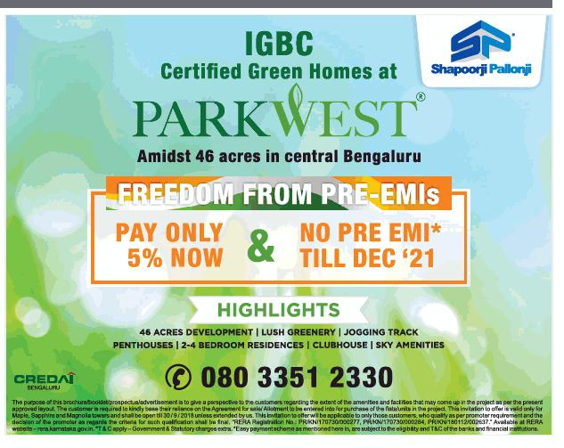 Shapoorji Pallonji Certified Green Homes At Park West Ad