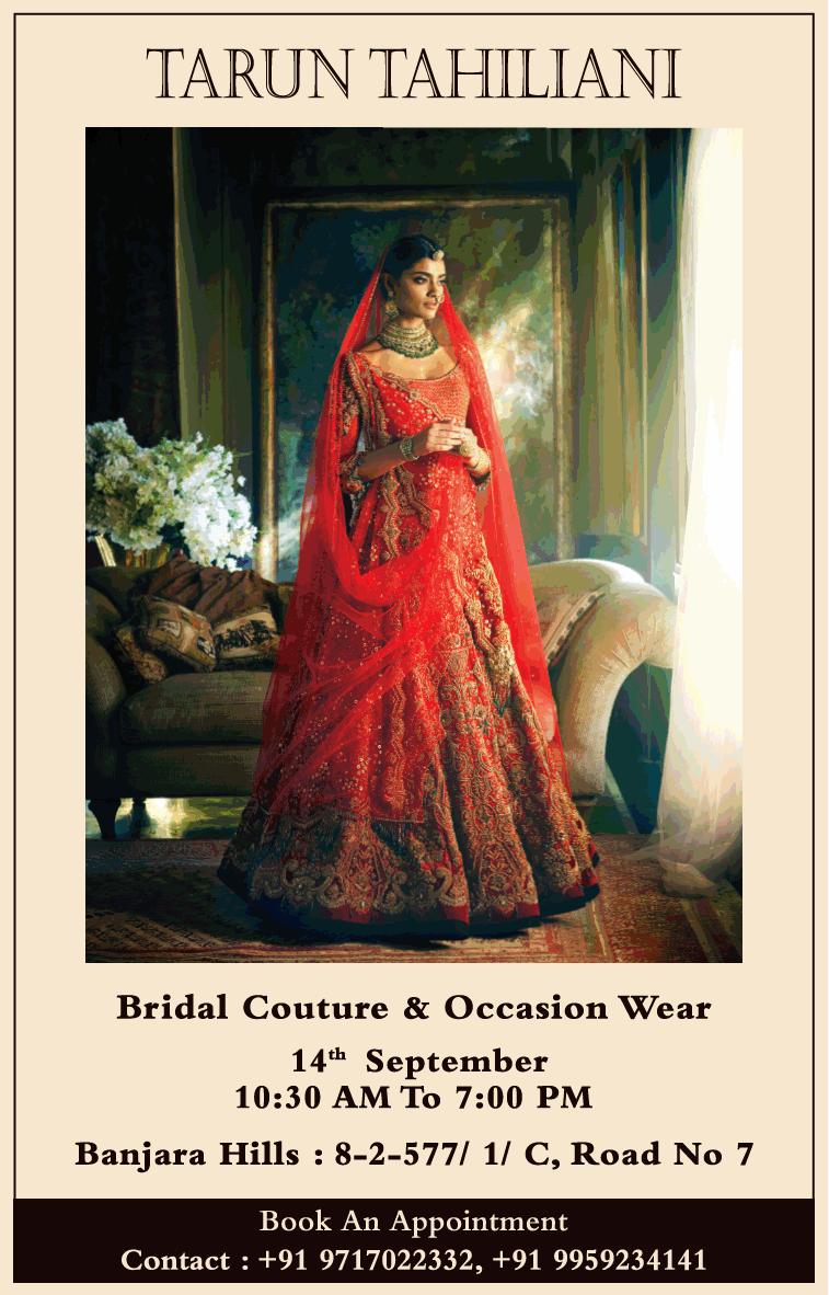 Tarun Tahiliani Bridal Couture And Occasion Wear Ad