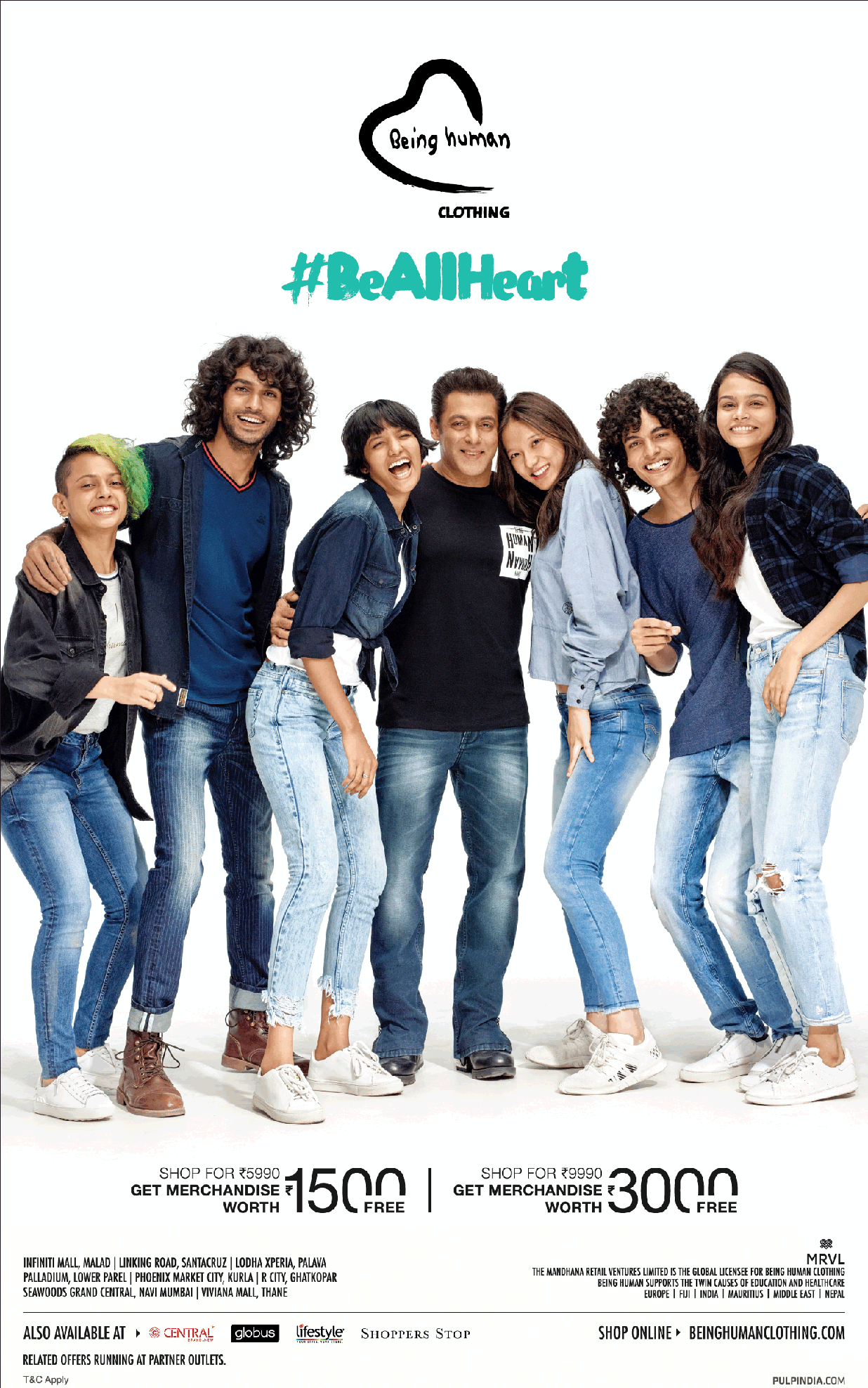 Being Human Clothing Be All Heart Featuring Salman Khan Ad Advert