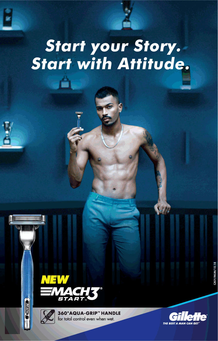 gillette new mach3 start your story start with attitude ad